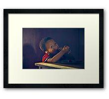Hungry Boy II Framed Print