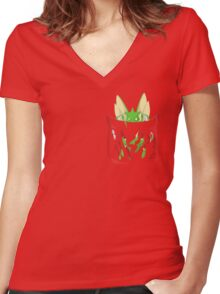 Dangerous to have Scyther in your Pocket Women's Fitted V-Neck T-Shirt