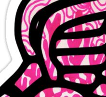 Pink Zentangle Track Shoe Sticker