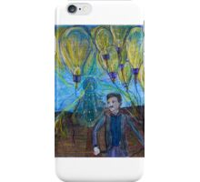 Nikola Tesla Freeing the light bulb balloons iPhone Case/Skin