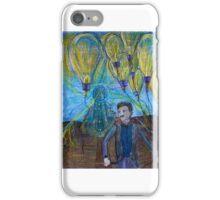 Nikola Tesla Freeing the light bulb balloons iPhone Case/Skin