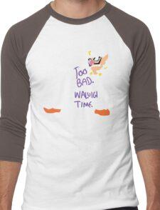 Too Bad Waluigi Time Men's Baseball ¾ T-Shirt