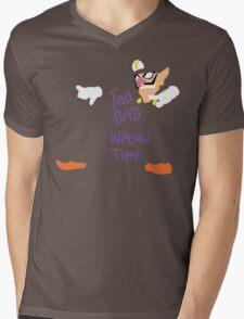 Too Bad Waluigi Time Mens V-Neck T-Shirt