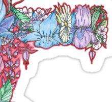 Floral Letter F Sticker