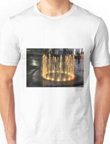 Elizabeth Quay, Perth Western Australia, Gold Fountain Unisex T-Shirt