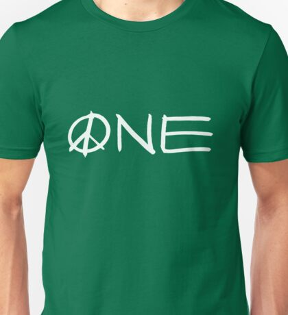 ONE peace sign Unisex T-Shirt