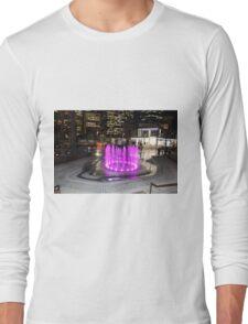 Elizabeth Quay, Perth Western Australia, Pink Fountain Long Sleeve T-Shirt