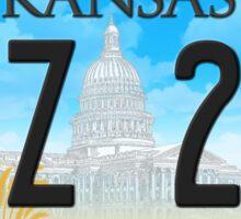 Supernatural Kansas Impala Plate Sticker