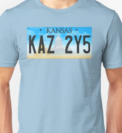 Supernatural Kansas Impala Plate Unisex T-Shirt
