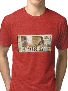 Vintage SHIELD Battleship- Skyeward Style Tri-blend T-Shirt