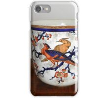 Ornate Container with Flowers and Birds iPhone Case/Skin