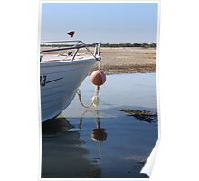 Morning on the Beach - Low Tide Poster