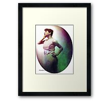 Staring into the Moon Framed Print