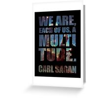 Each Of Us A Multitude [Black Print] Greeting Card