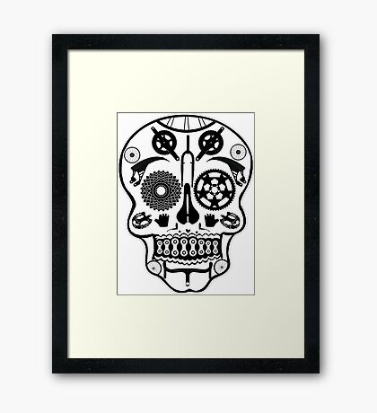 Symmetry skull Framed Print