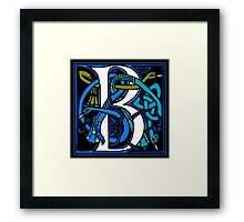 Celtic Peacocks Letter B Framed Print