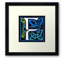 Celtic Peacocks Letter F Framed Print