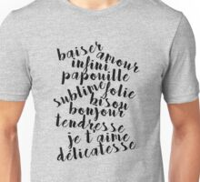 French love words Unisex T-Shirt