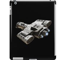 Spaceship on Black with Blue Engine Glow iPad Case/Skin