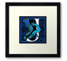 Celtic Peacocks Letter J Framed Print