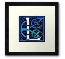 Celtic Peacocks Letter L Framed Print