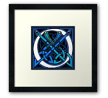 Celtic Peacocks Letter O Framed Print