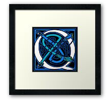 Celtic Peacocks Letter Q Framed Print