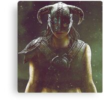 skyrim dragonborn warrior #3 Canvas Print