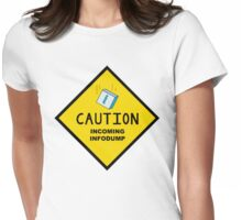 Caution: Incoming Infodump (Diamond) Womens Fitted T-Shirt