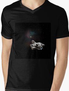 Towards the Nebula Mens V-Neck T-Shirt