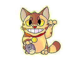 Catbus Maneki-Neko by KKdrawsStuff