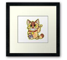 Catbus Maneki-Neko Framed Print