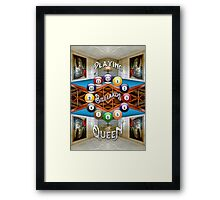 Playing Billiards with the Queen Versailles Palace Paris Framed Print