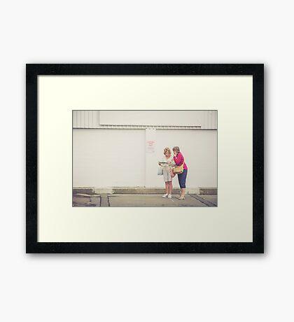 Where are we? Framed Print