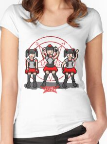 """Baby """"Pixel"""" Metal !! (White) Women's Fitted Scoop T-Shirt"""
