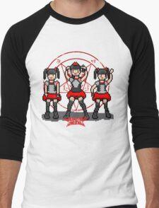 """Baby """"Pixel"""" Metal !! (White) Men's Baseball ¾ T-Shirt"""