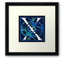 Celtic Peacocks Letter X Framed Print