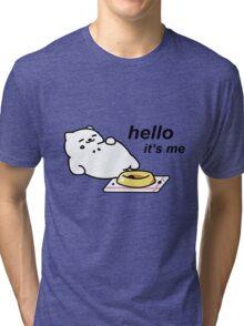 Neko Atsume - Tubbs (hello...it's me) Tri-blend T-Shirt