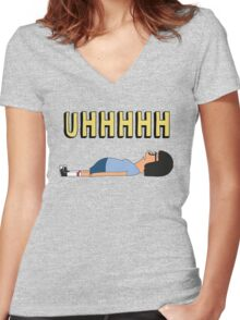 Top Seller - Tina Belcher: Uhhhhhhh Women's Fitted V-Neck T-Shirt