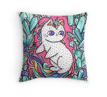 Unicorn  kitty Throw Pillow