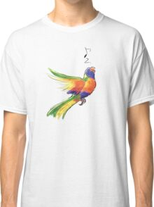 Singing Rainbow Lorikeet Classic T-Shirt