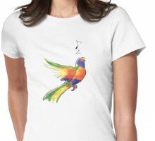Singing Rainbow Lorikeet Womens Fitted T-Shirt