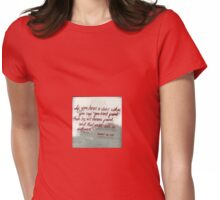 Quote By Vincent Van Gogh Womens Fitted T-Shirt