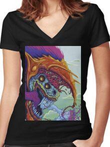 CS:GO | HYPERBEAST skin design | CS:GS Women's Fitted V-Neck T-Shirt