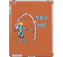 ZERO SUIT SAMUS | Super Smash Taunts | Try me iPad Case/Skin
