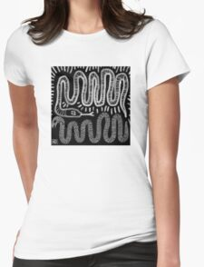 snake skin Womens Fitted T-Shirt