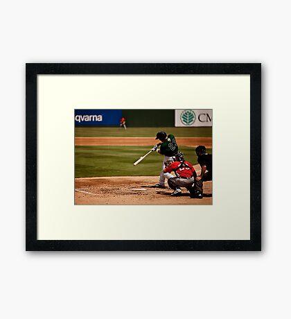 Baseball Hit Framed Print