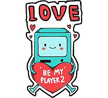 BMO in love Adventure time Photographic Print