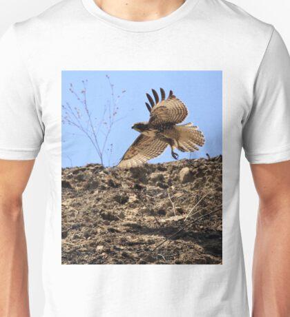 Red Tail Hawk Glides Hillside Unisex T-Shirt