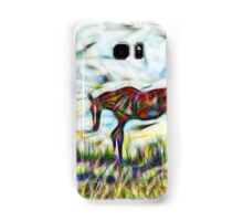 Abstract horses in paddock Samsung Galaxy Case/Skin